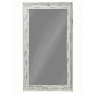 Distressed White Large Floor Mirror