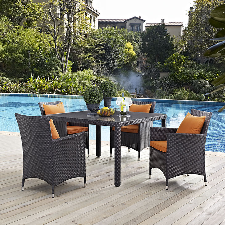 Patio Set Las Vegas: Convene 5pc Outdoor Patio Collection