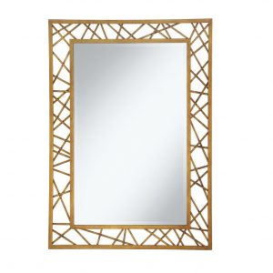 Geometric Gold Wall Mirror