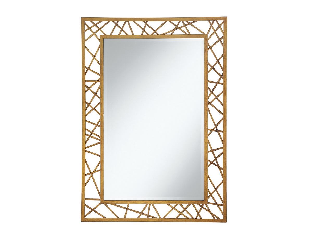 Gold wall mirror wall mirror with gold tone frame extra for Gold wall mirror
