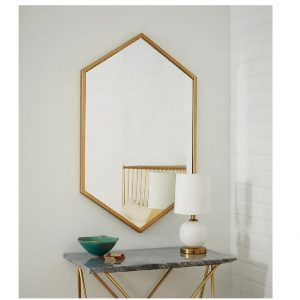 Hexagon Design Wall Mirror