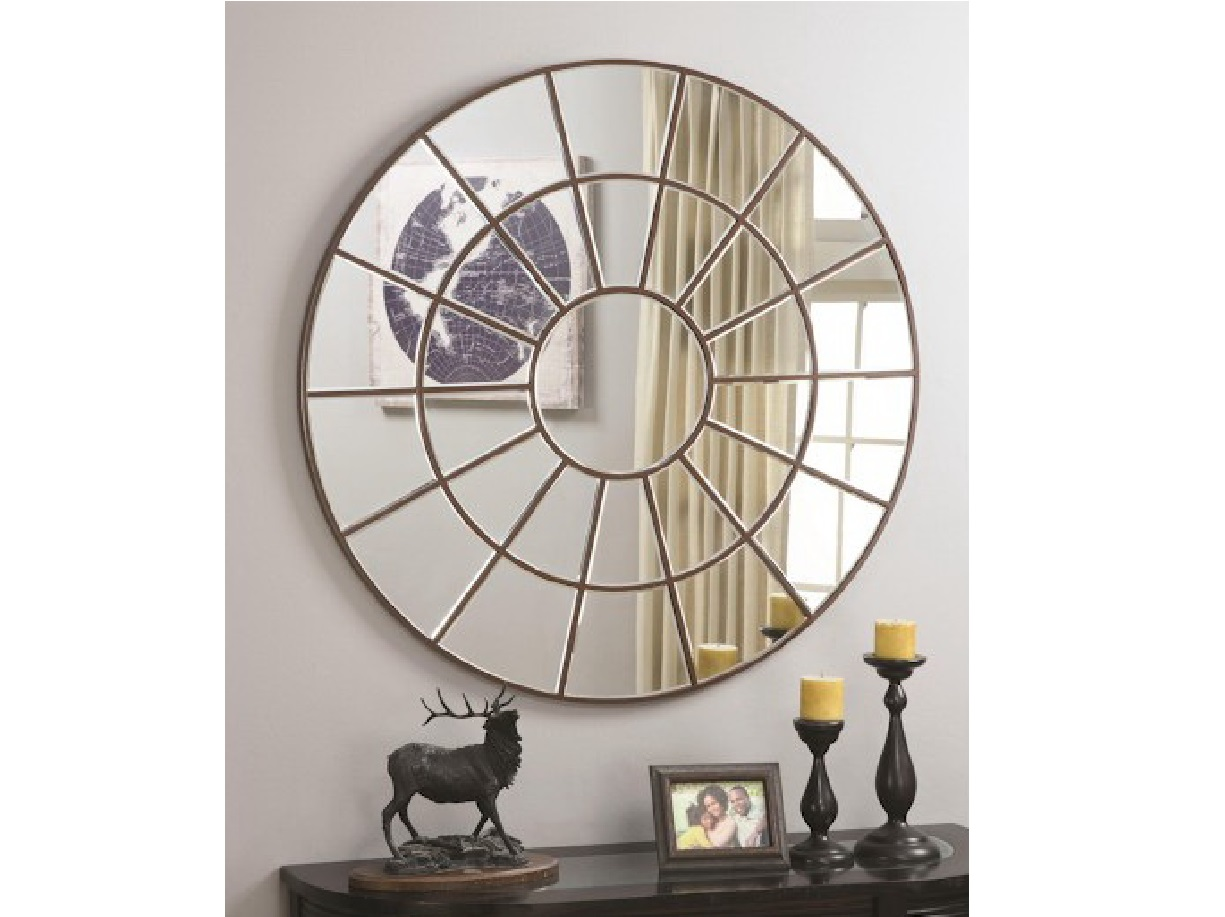 Palladian Inspired Circular Mirror