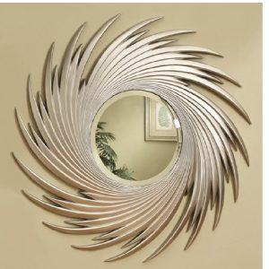 Round Spiral Wall Mirror