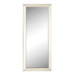 Silver Beveled Floor Mirror