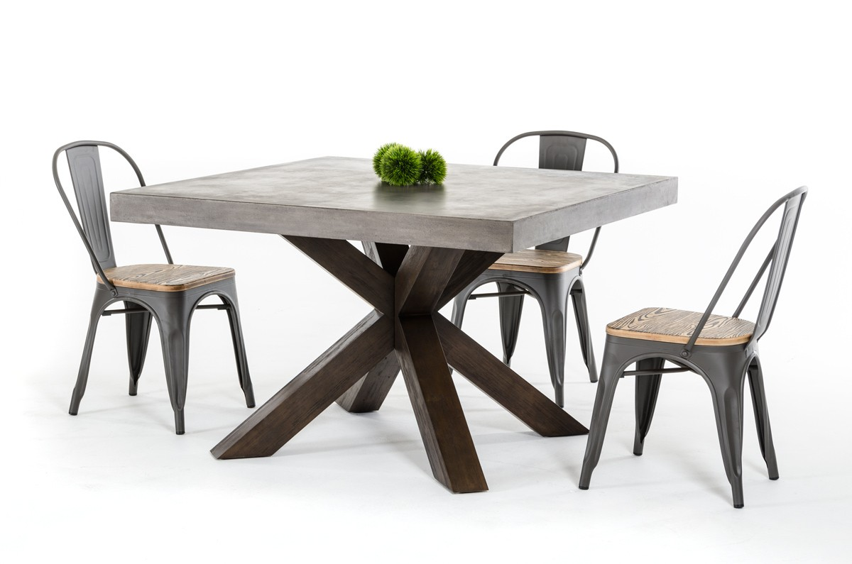 Urban Concrete Square Dining Collection Las Vegas Furniture Store - Cement look dining table