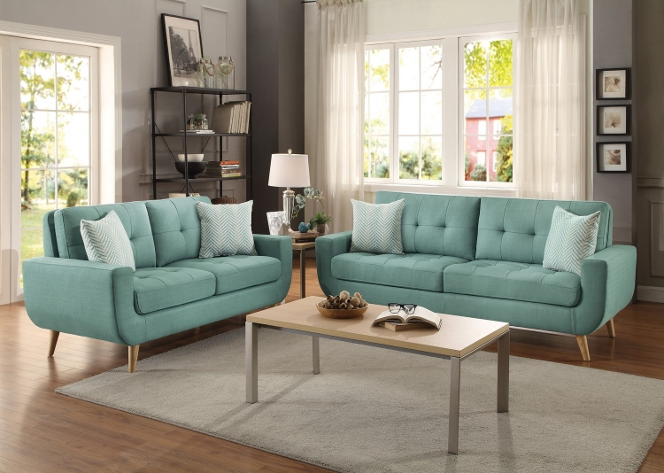 Deryn Blue Living Room Las Vegas Furniture Store Modern Home Furniture
