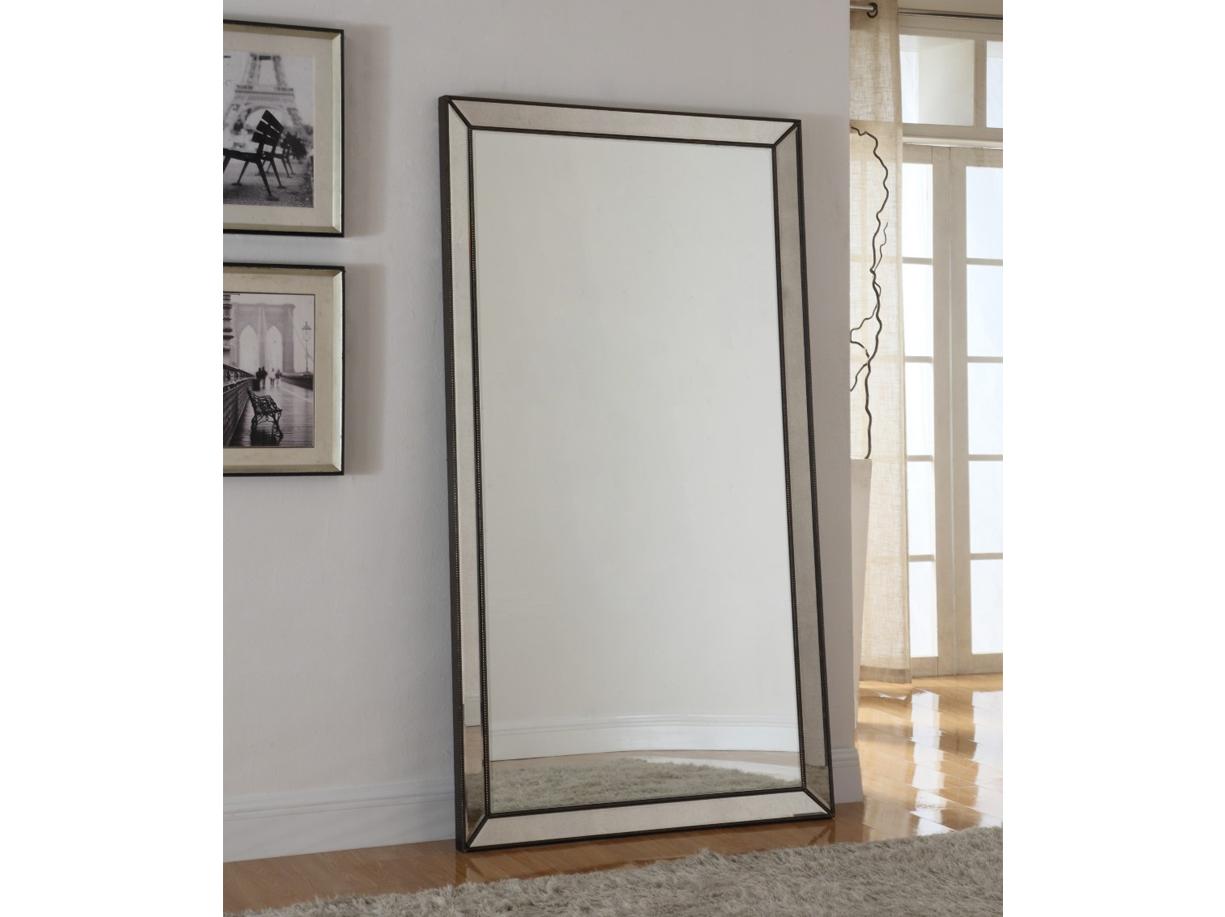 Destiny tall floor mirror las vegas furniture store for Tall bedroom mirror