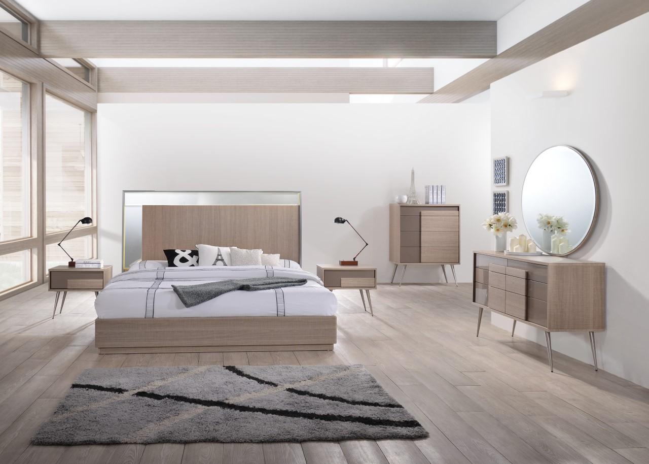 Brazil Taupe Bronze Bedroom Collection Las Vegas