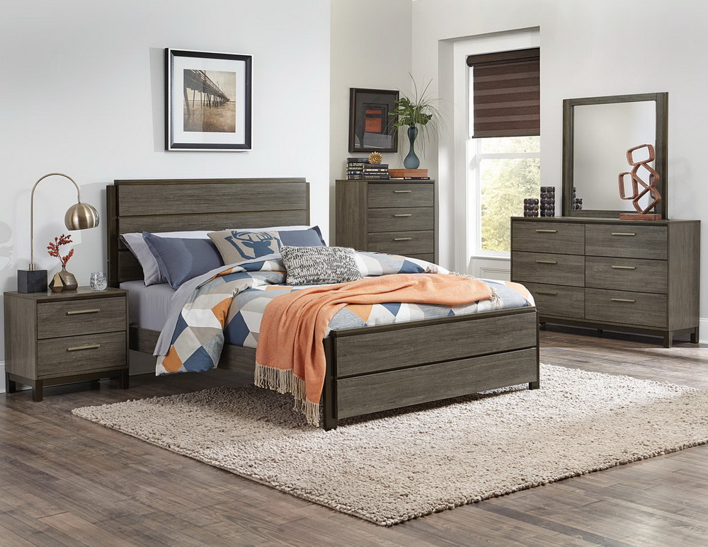 Vestavia Grey Finish Bedroom Collection Las Vegas