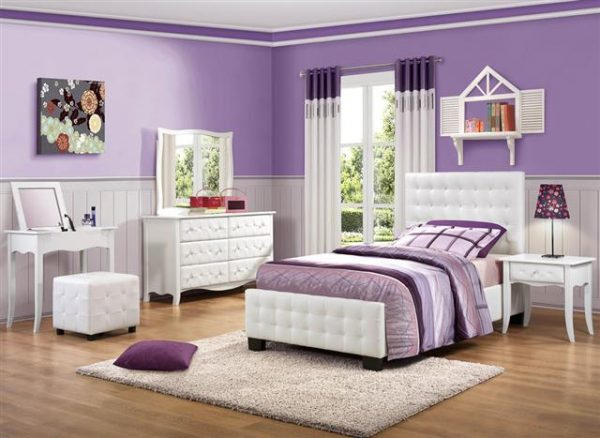 HE-2004 white kids modern bedroom set