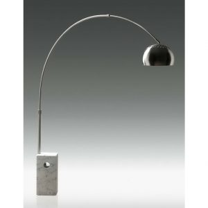 Arche Chrome White Floor Lamp