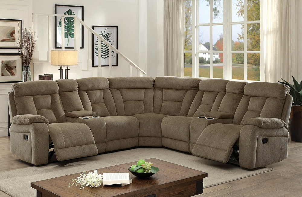 Maybell Chenille Fabric Reclining Sectional