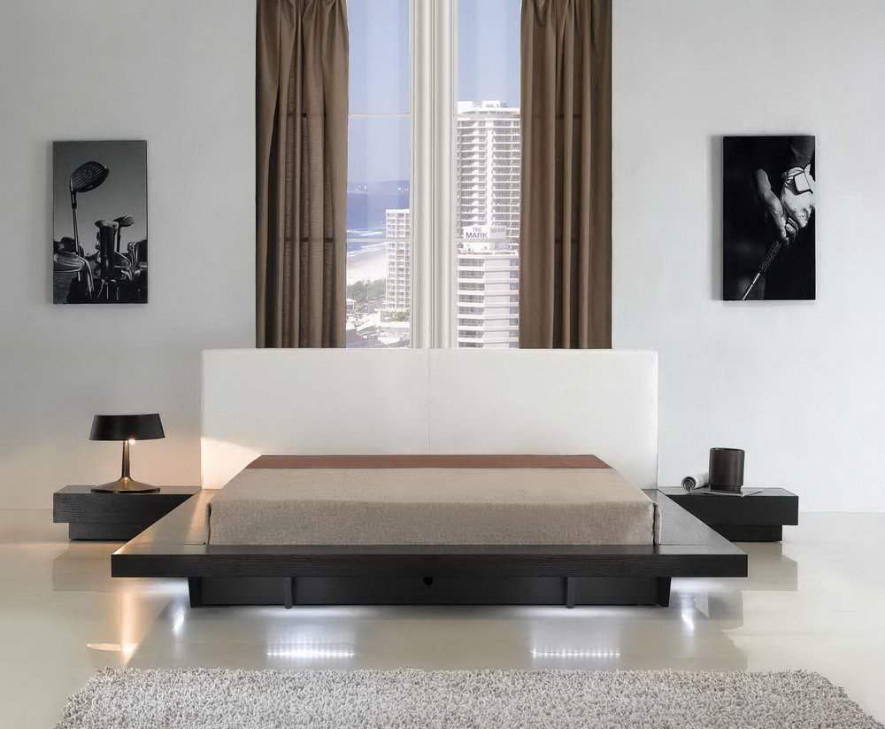Opalcii Platform Bed With Lights Collection Las Vegas