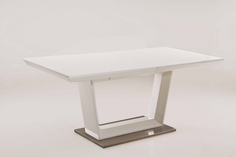 Cleo white lacquer dining table collection las vegas for White lacquer dining table
