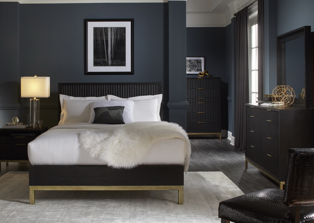 Kentfield Black And Gold Bedroom Collection Las Vegas