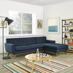 engage azure sectional right facing chaise
