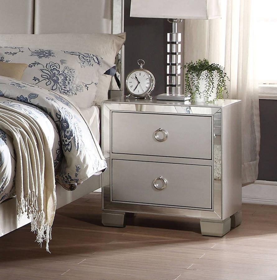 Cheap Bedroom Sets Las Vegas: Voeville II Platnum Silver Bedroom Collection