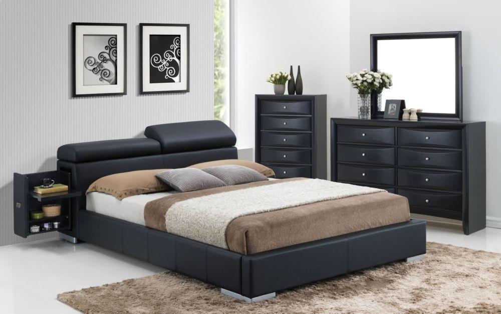 Manjot modern black bedroom set 20750q by acme