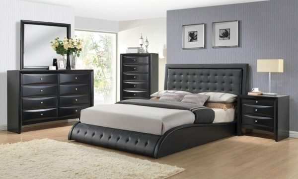 tirrel Black modern bedroom set