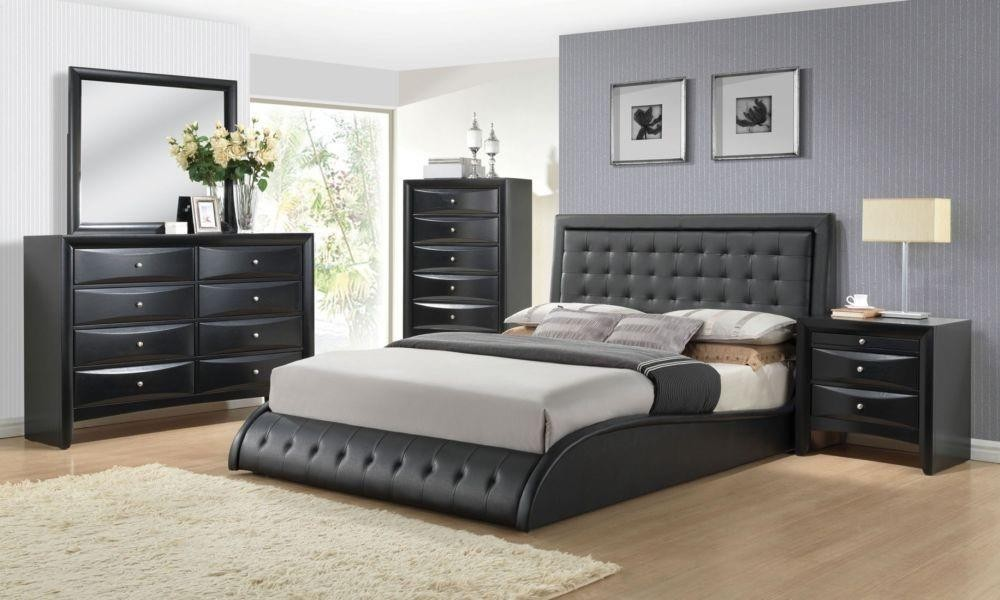 tirrel black modern bedroom set | las vegas furniture