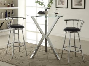 100186-2244 round bar table set in las vegas by coaster