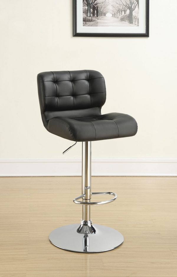 100543-A Black bar stool