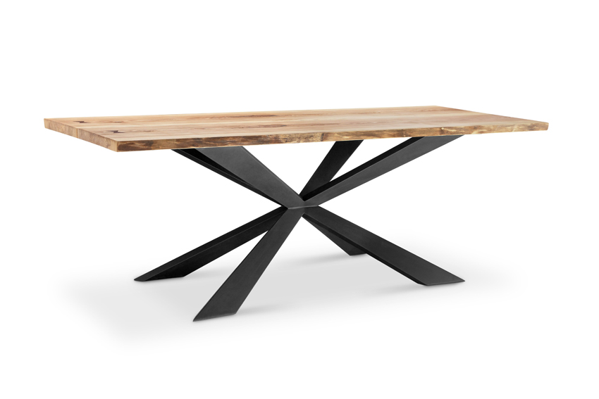 DT179-hunter-x-dining-table-solid-ash-wood-top-black-iron-base-9000-f1