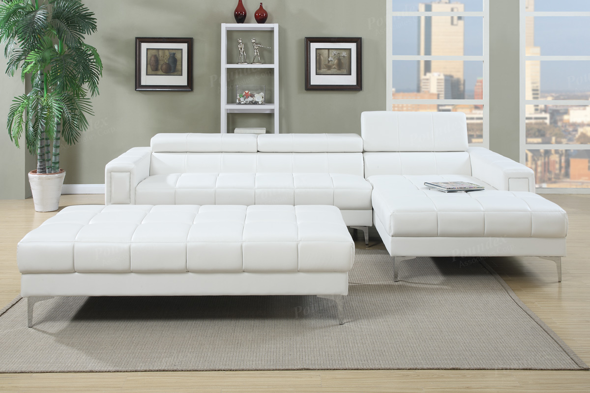 F7364 white sectional