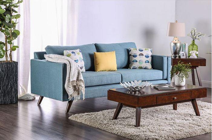 Genna Blue Sofa Las Vegas Furniture Store Modern Home