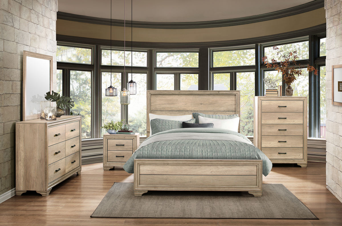 Lonan Sun Bleach Bedroom Collection Las Vegas Furniture Store Modern Home Furniture