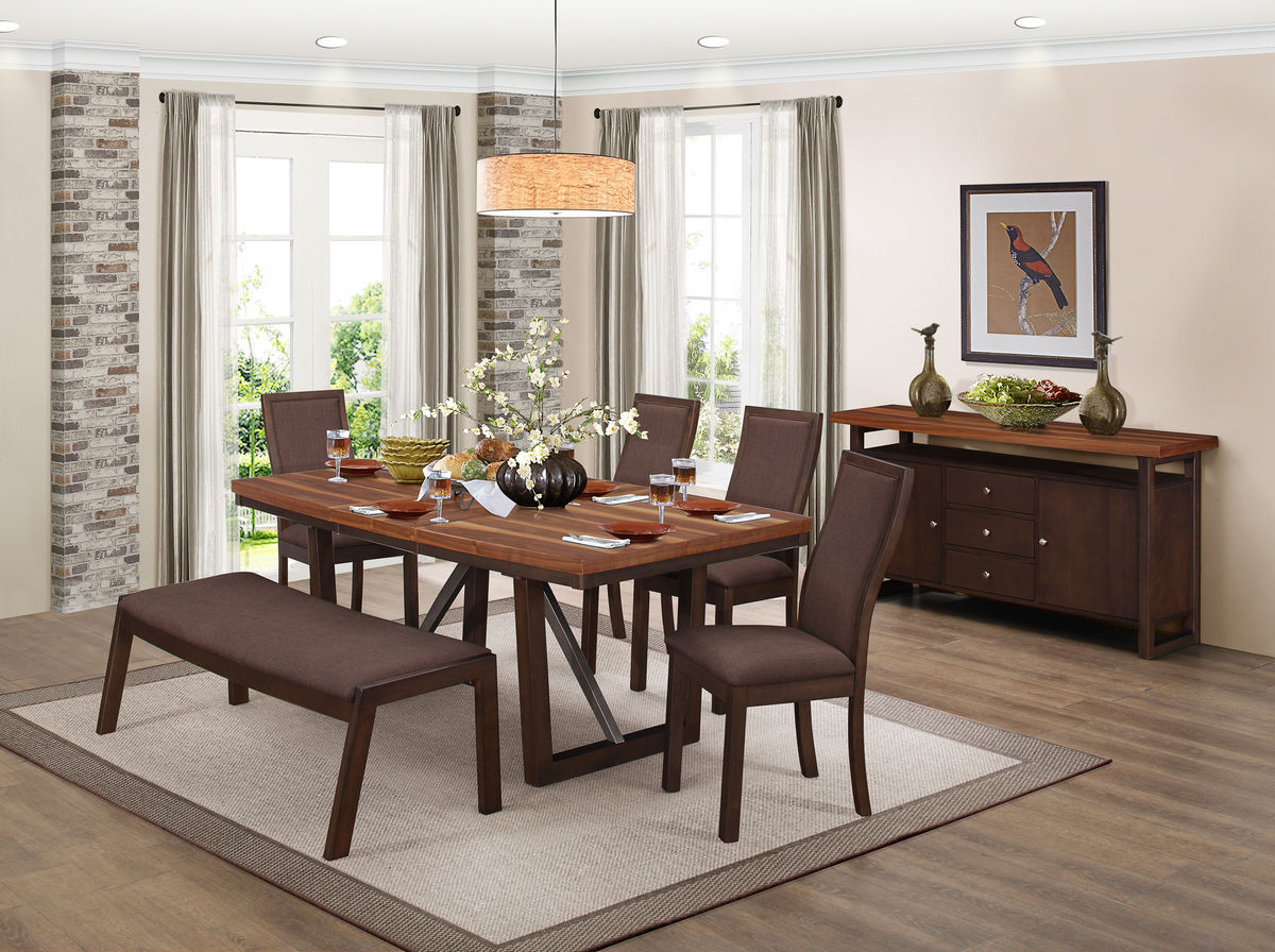Compson Contemporary Dining Table Collection Las Vegas