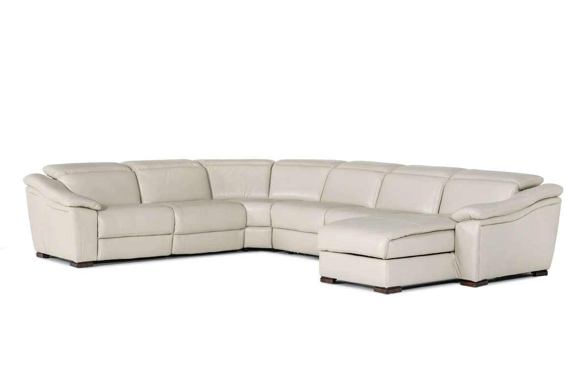 Jasper Light Grey Leather Sectional Sofa Las Vegas Furniture Store Modern Home Furniture Cornerstone Furniture