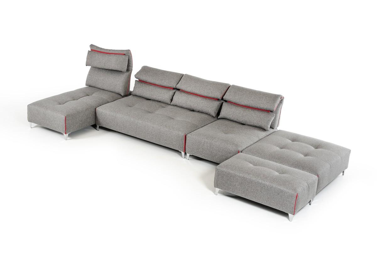 Ferrari Grey Fabric Sectional Sofa Las Vegas Furniture