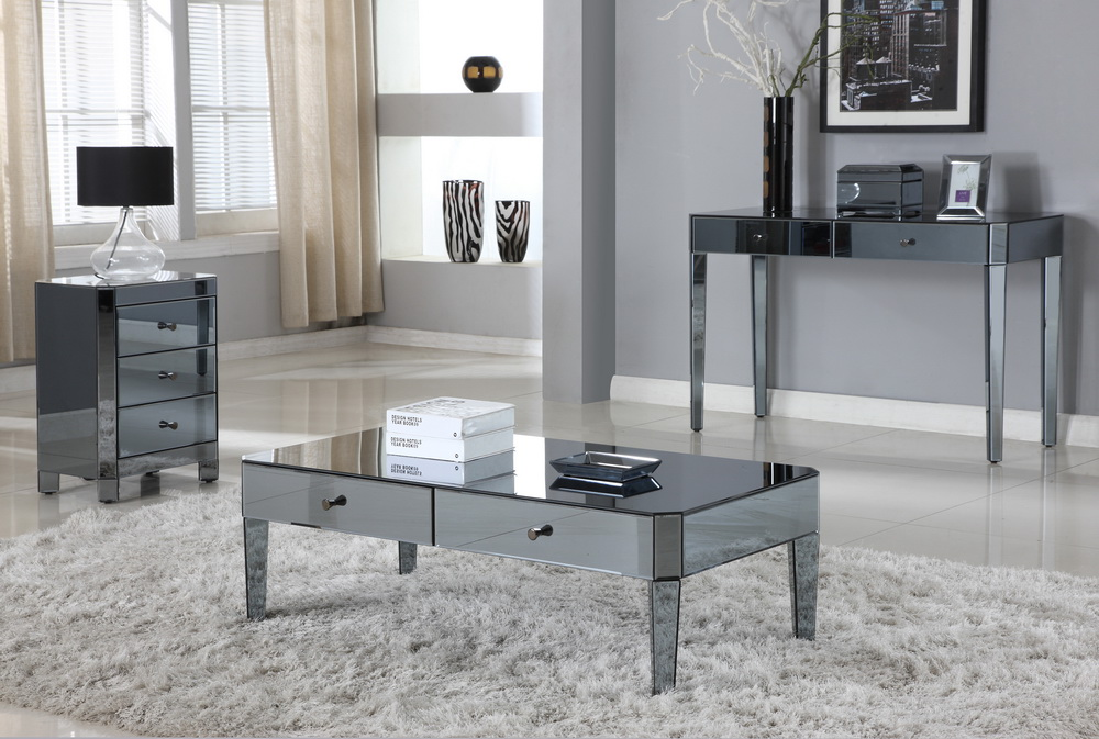 las vegas smoke mirror coffee table collection D1120-C