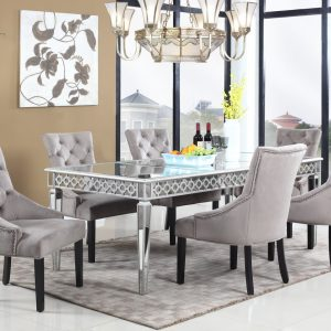Vegas glam T-1840 Mirror dining table