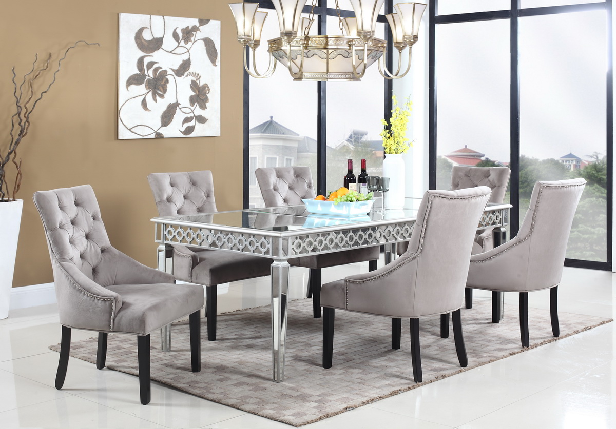 Vegas Glam Mirror Dining Collection Las Vegas Furniture