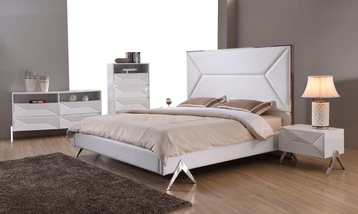 Candid White Bedroom Collection