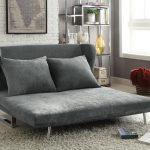 queen grey futon