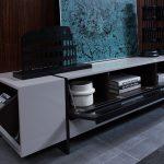 lorena grey -3 tv stand