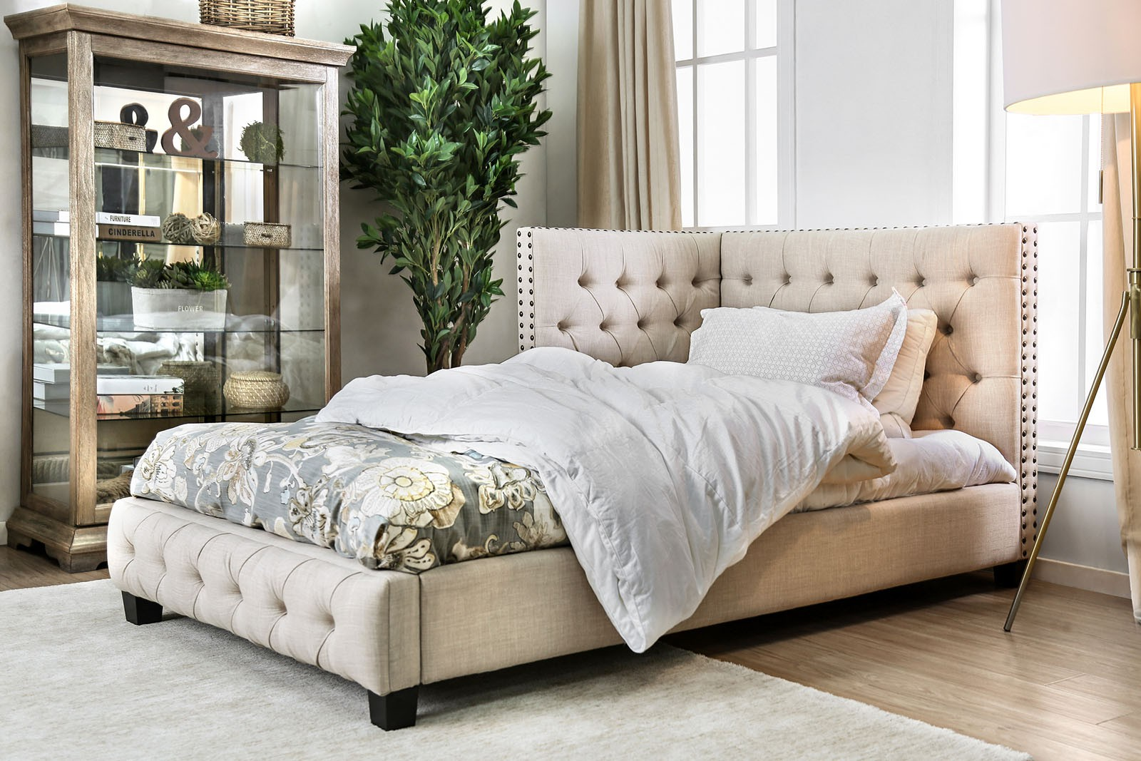 17-CM7197-1 Carina Twin Tuffted Corner Bed $598