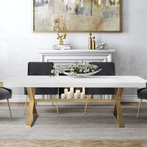 TOV-D47-TOV-G5496 White dining table