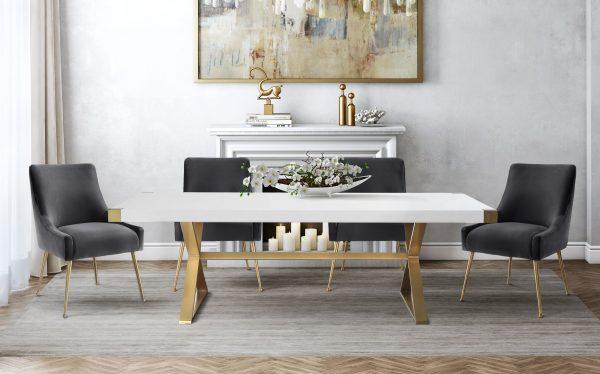 TOV-D47-TOV-G5496 White dining table