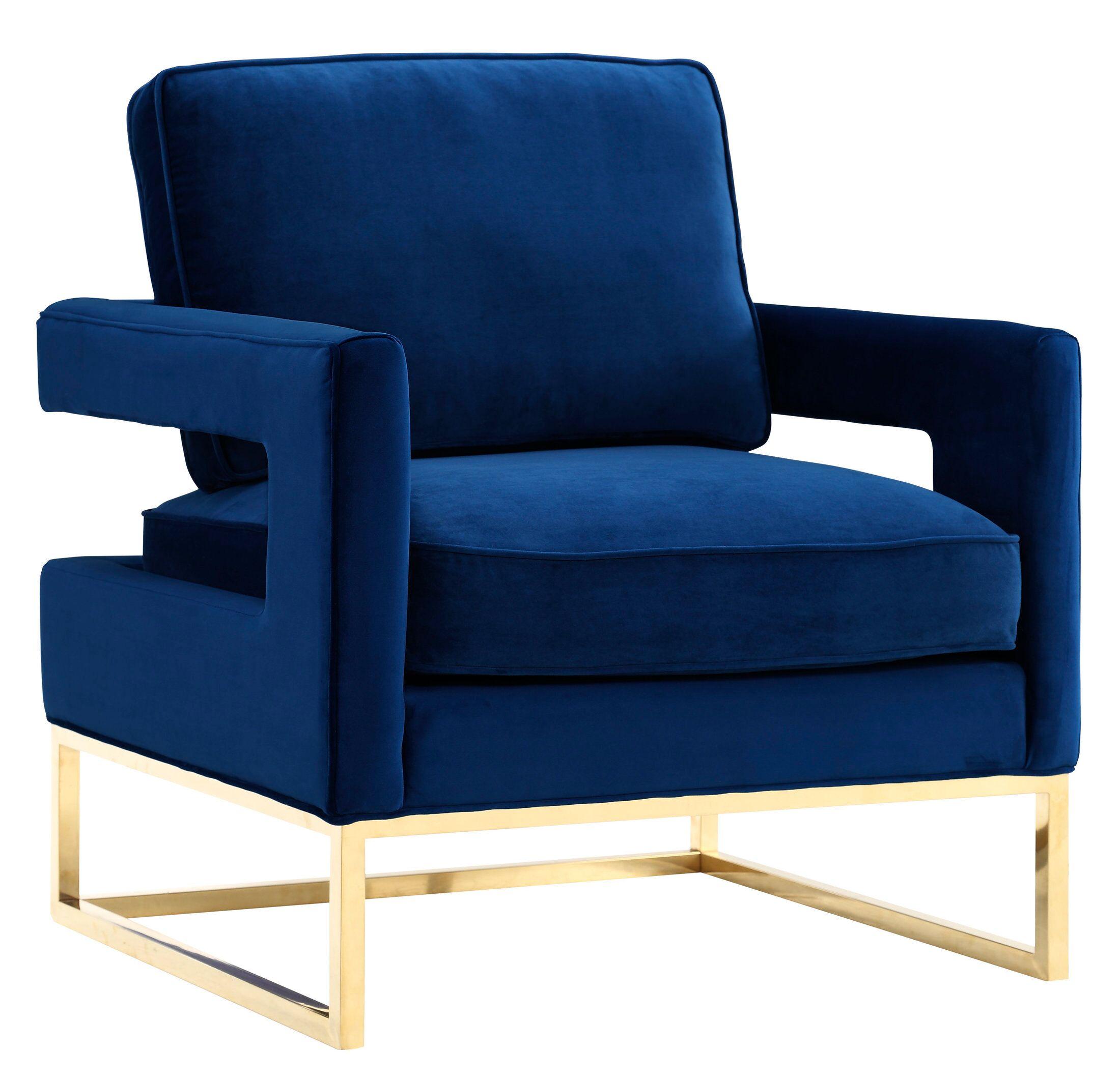 TOV-A91-avery  blue velvet chair