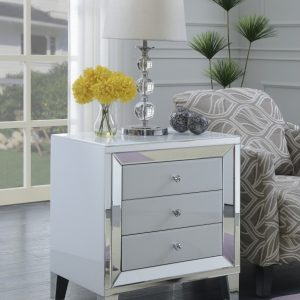 vegas white glass mirrored bedside tables. Delighful Glass Amber White Glass Mirror Accent Collection With Vegas Mirrored Bedside Tables D