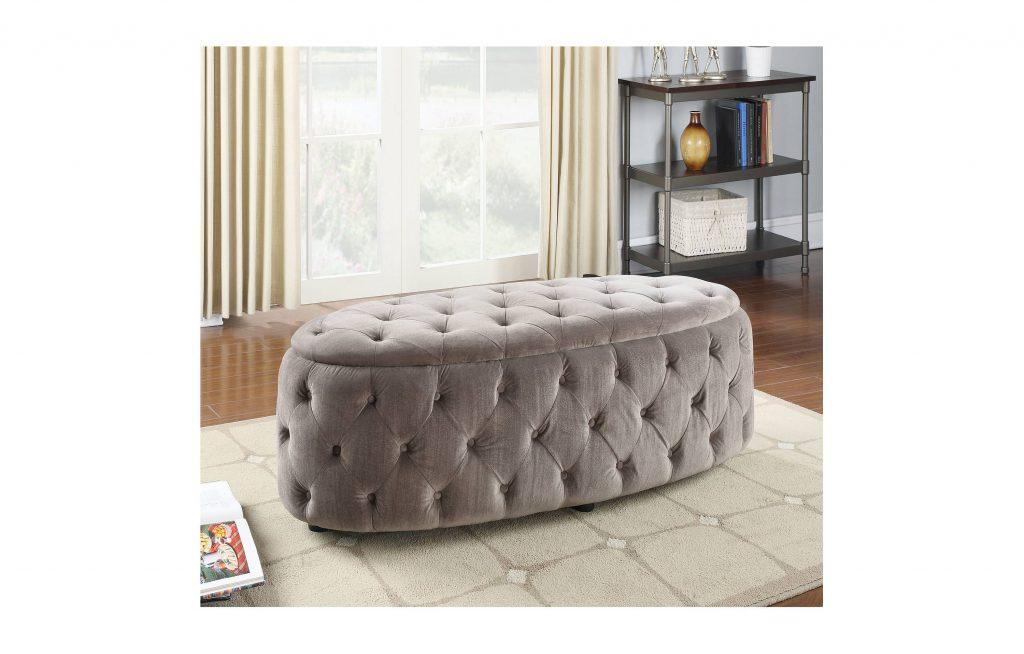 Maddy Light Grey Fabric Bench Las Vegas Furniture Store