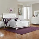 white bedroom set with LED