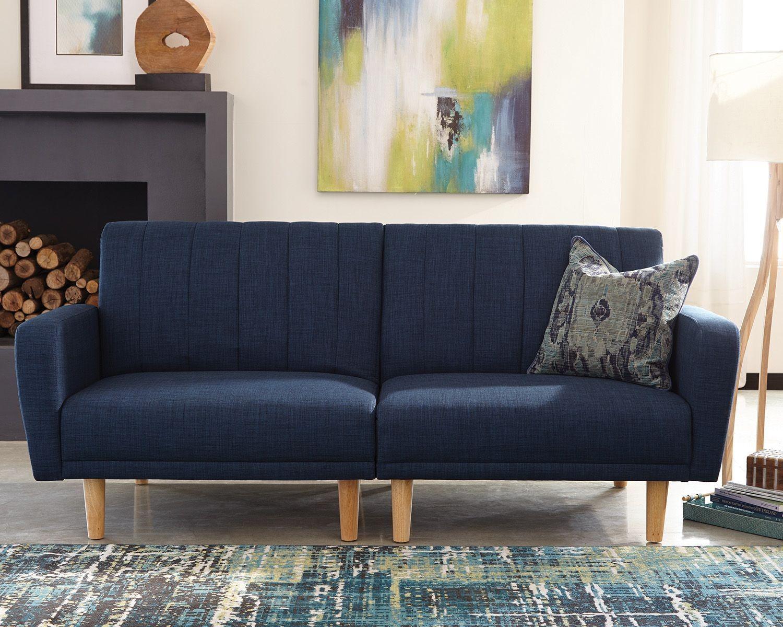 Shaywood Blue Woven Fabric Sofa Bed Las Vegas Furniture