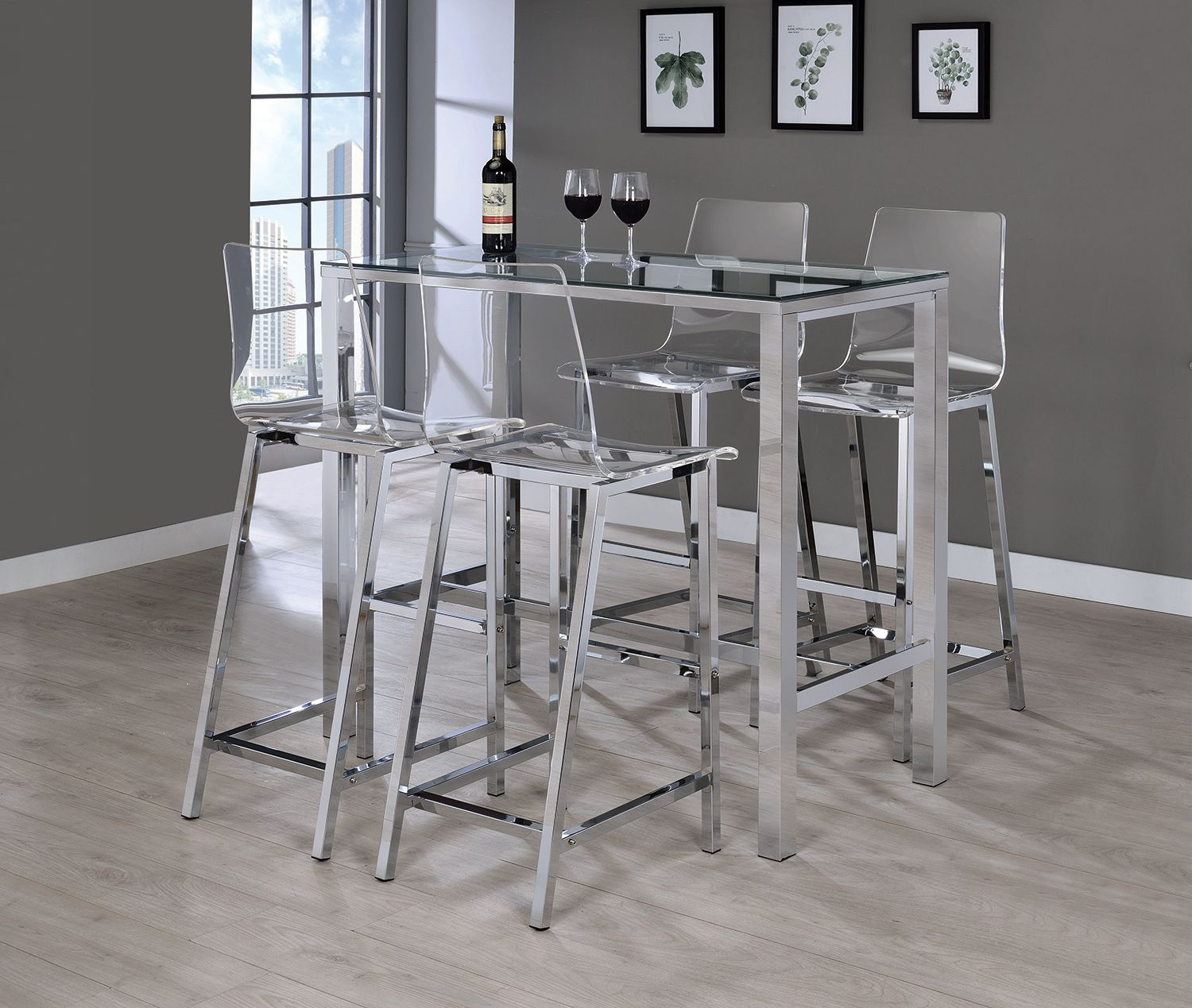 Ana Clear Acrylic Bar Stool Las Vegas Furniture Store Modern