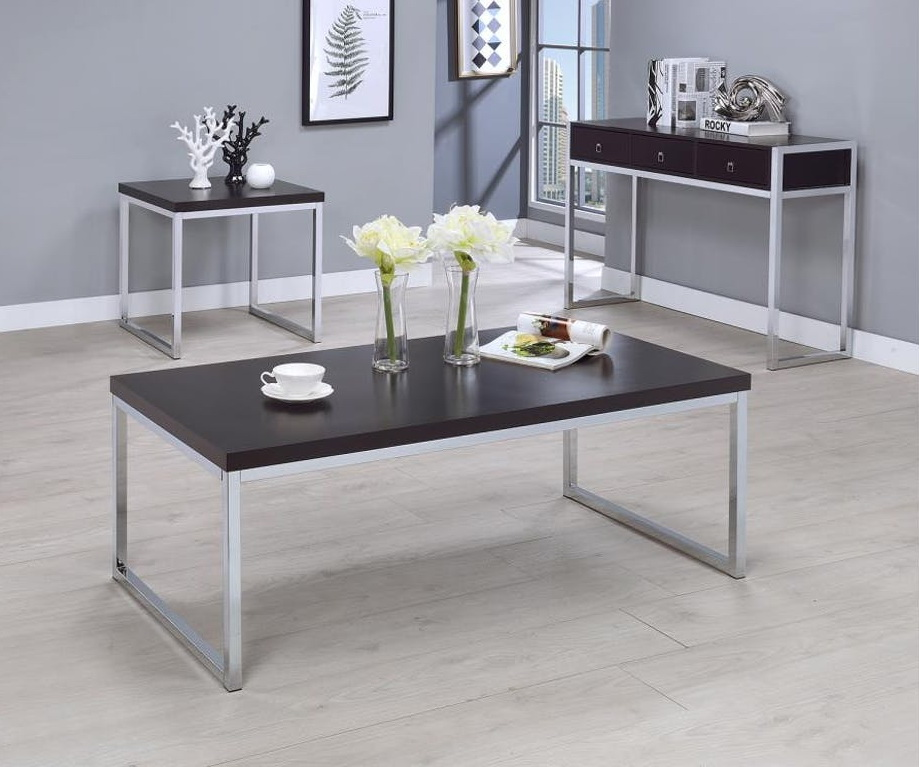 patricia contemporary table collection las vegas furniture store modern home furniture. Black Bedroom Furniture Sets. Home Design Ideas