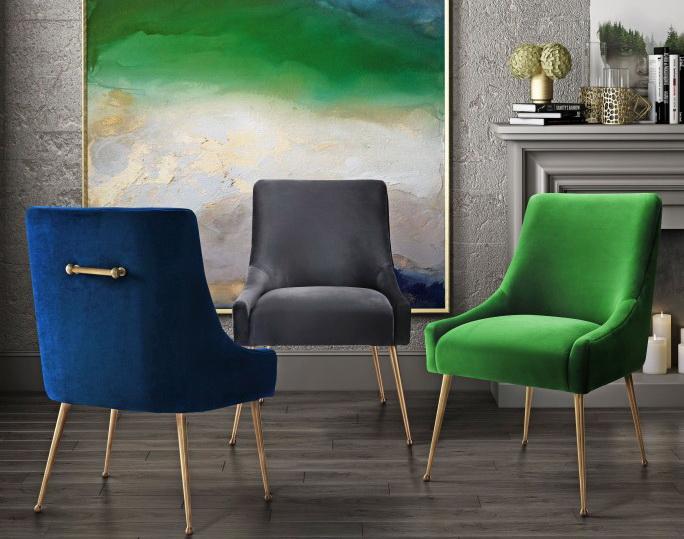 Beatrix Velvet Side Chair Collection Las Vegas Furniture